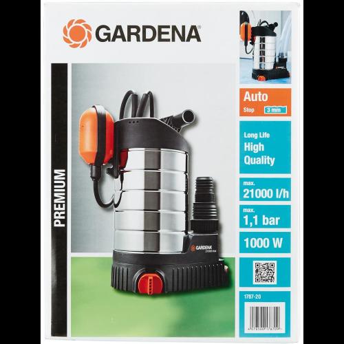 GARDENA Klarwasser-Tauchpumpe 21000 inox Tauch- Druckpumpe
