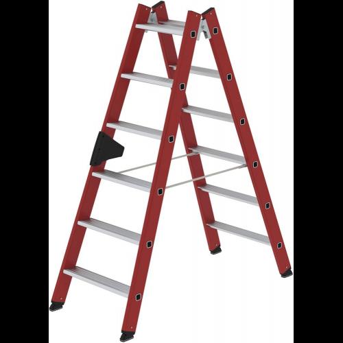 2x6 Stufen beidseitig Made in Germany G/ÜNZBURGER Aluminium-Stehleiter