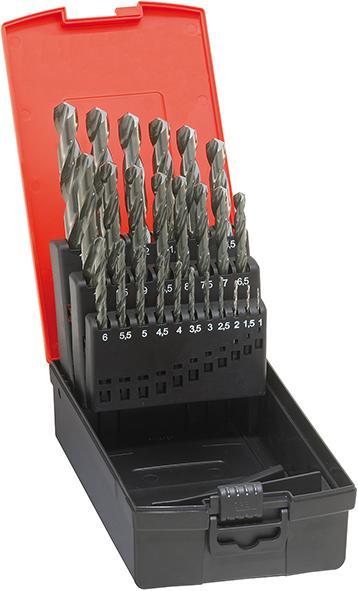 0,1mm steigend HSS-G geschliffen Spiralbohrersatz 1-5,9mm Metallbohrer